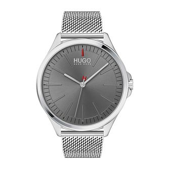 HUGO #SMASH Stainless Steel Mesh Bracelet Watch - Product number 4852990