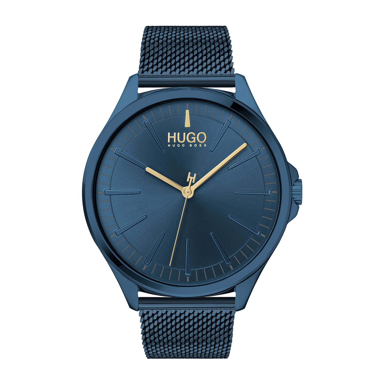 HUGO #SMASH Blue IP Mesh Bracelet Watch - Product number 4853008