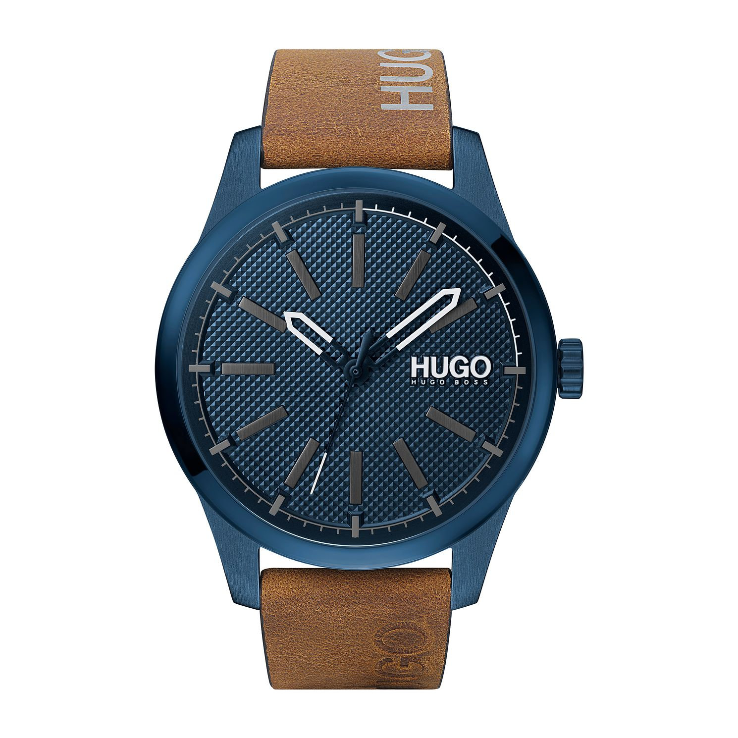 HUGO INVENT Men's Brown Leather Strap Watch - Product number 4853016