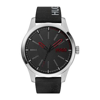 HUGO INVENT Men's Black Leather Strap Watch - Product number 4853024