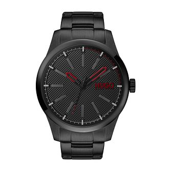 HUGO #Invent Men's Black Ion Plated Strap Watch - Product number 4853083