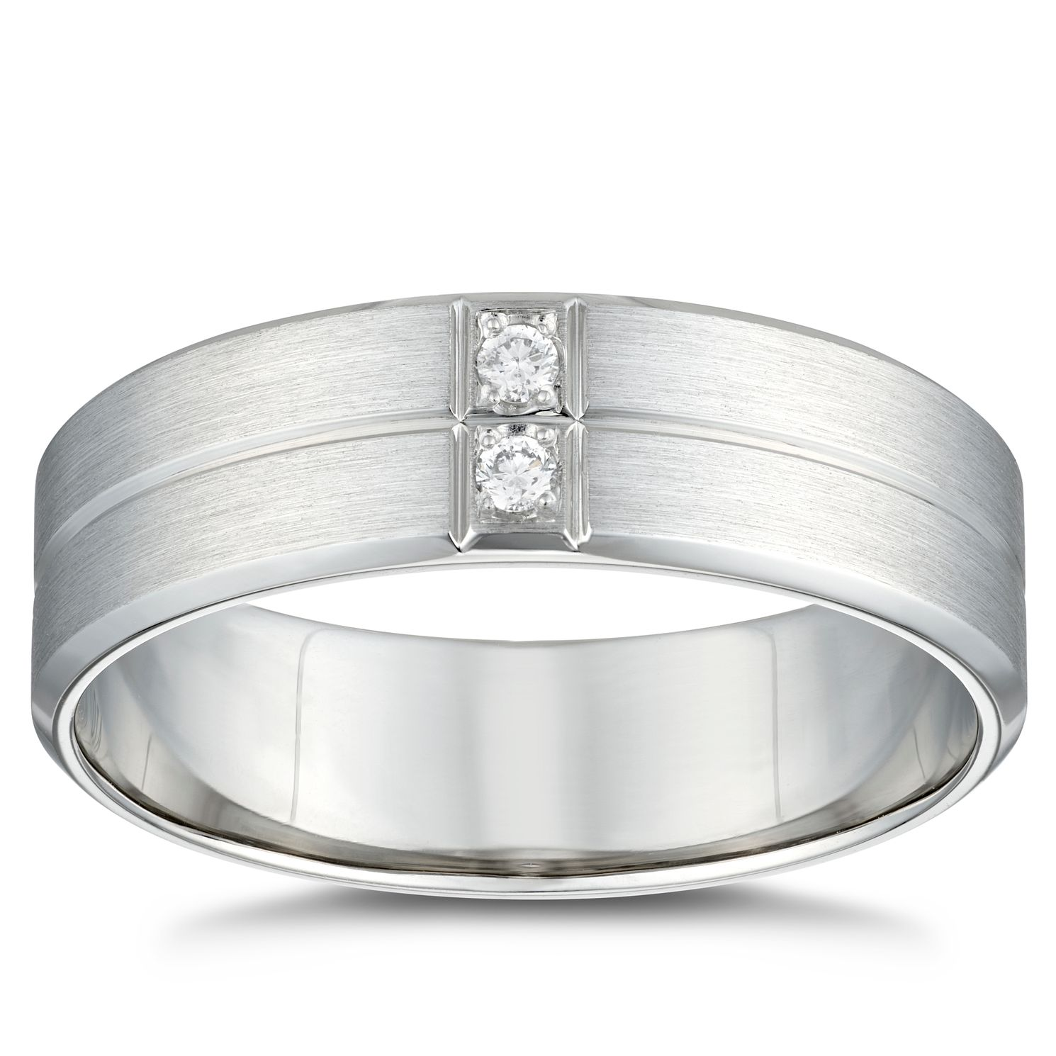 Platinum Diamond Groove 6mm Wedding Ring - Product number 4853180