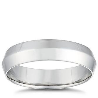 Platinum Concave 5mm Wedding Ring - Product number 4854993