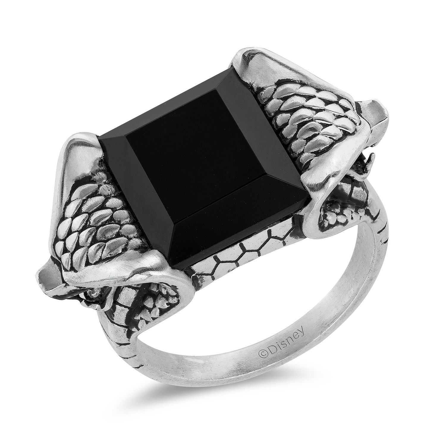 Enchanted Disney Fine Jewelry Silver Onyx Ring - Product number 4859545