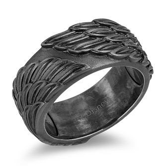 Enchanted Disney Fine Jewelry Black Silver Wings Ring - Product number 4859952