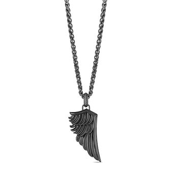 Enchanted Disney Fine Jewelry Black Silver Wings Necklace - Product number 4860101