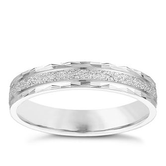 9ct White Gold Glitter Ring - Product number 4866878