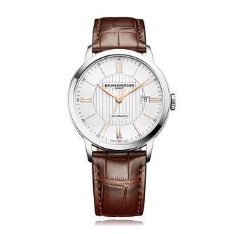 Baume & Mercier Classima Men's Brown Leather Strap Watch - Product number 4871235