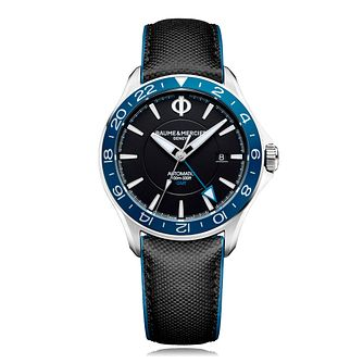 Baume & Mercier Classima Men's Black Leather Strap Watch - Product number 4871278