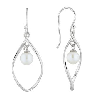 Silver Hanging Cultured Freshwater Pearl Drop Earrings - Product number 4871677