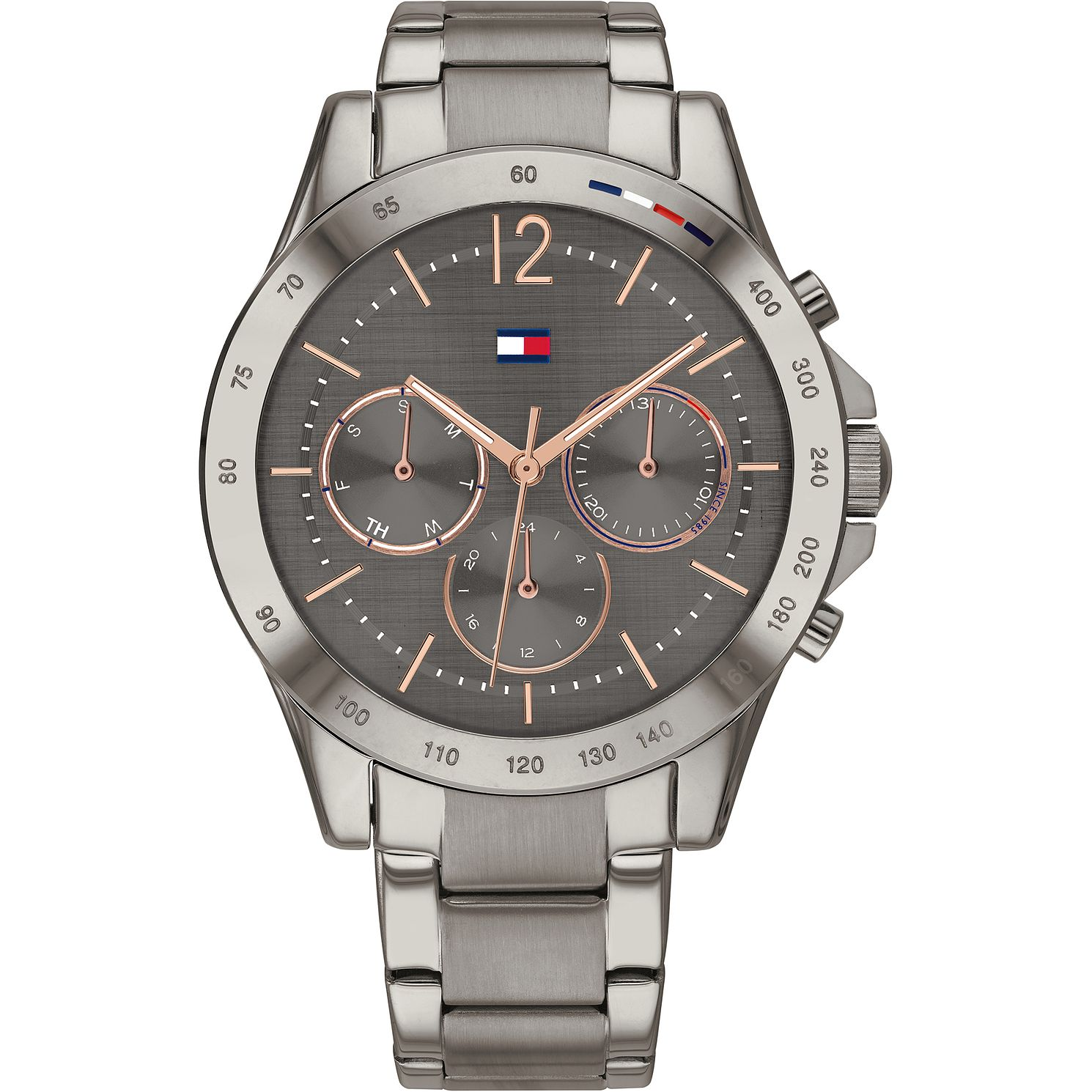 Tommy Hilfiger Ladies' Grey IP Bracelet Watch - Product number 4872436
