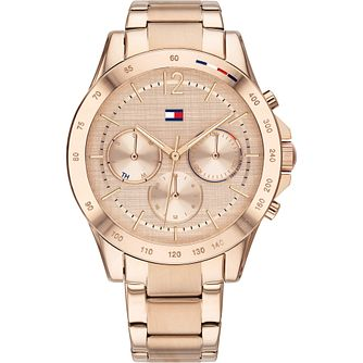 Tommy Hilfiger Day & Date Rose Gold IP Bracelet Watch - Product number 4872444