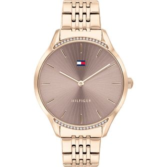 Tommy Hilfiger Crystal Rose Gold Tone Bracelet Watch - Product number 4872460