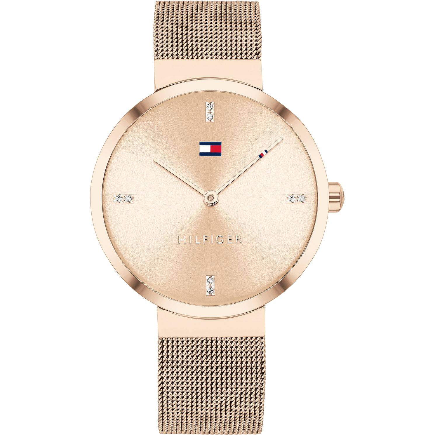 Tommy Hilfiger Crystal Rose IP Mesh Bracelet Watch - Product number 4872487