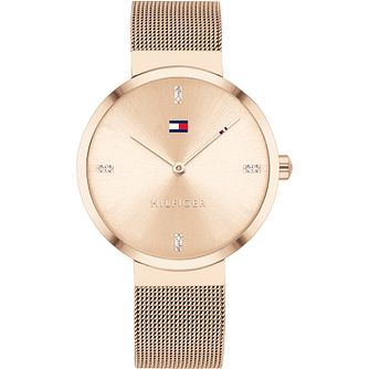 Tommy Hilfiger Ladies' Rose Gold Mesh Bracelet Watch - Product number 4872487