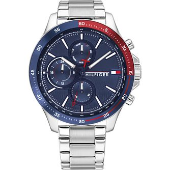 Tommy Hilfiger Day & Date Stainless Steel Bracelet Watch - Product number 4872533