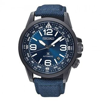 Seiko Prospex Men's Blue Ion Plated Strap Watch - Product number 4873513