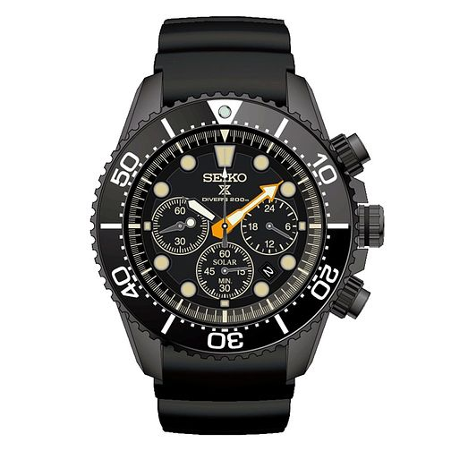 Seiko Prospex Limited Edition Men's Black Chronoraph Watch - Product number 4873548