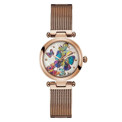 Gc PureChic Ladies' Rose Gold Plated Butterfly Watch - Product number 4873696