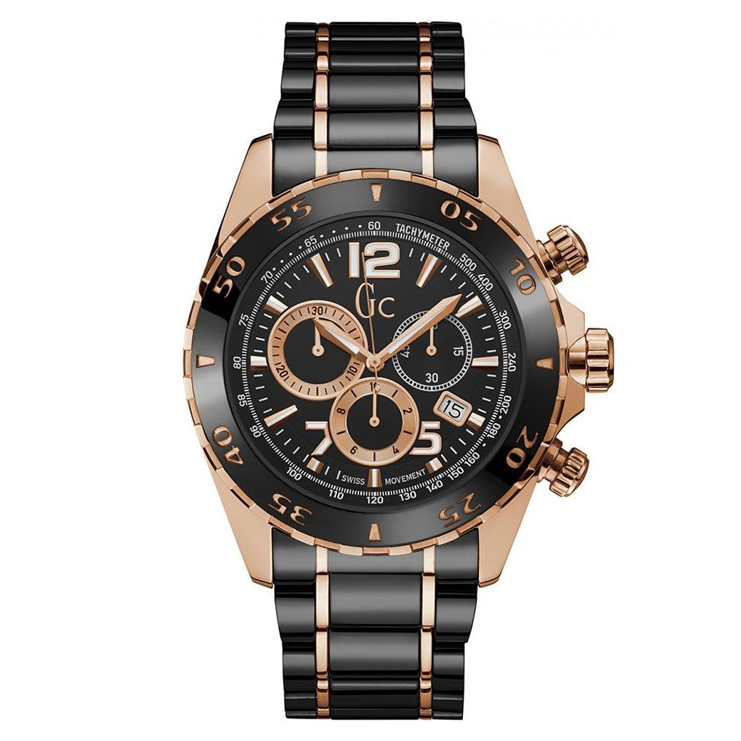 Gc Racer Men's Rose Gold Plated Bracelet Watch - Product number 4874137