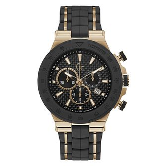 Gc Structura Men's Rose Gold Plated Black Strap Watch - Product number 4874846