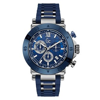 Gc Sport Men's Blue Ion Plated Strap Watch - Product number 4874897