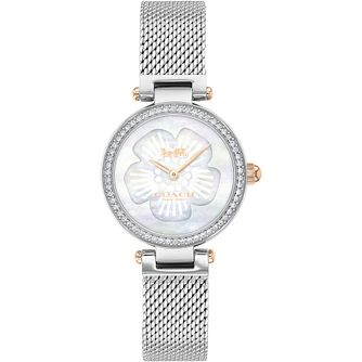 Coach Park Mother of Pearl Swarovski Crystal Mesh Watch - Product number 4877314
