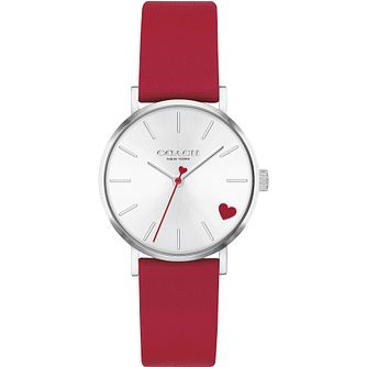 Coach Perry Ladies' Stainless Steel Red Leather Strap Watch - Product number 4877330