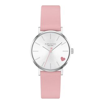 Coach Perry Ladies' Pink Leather Strap Watch - Product number 4877349