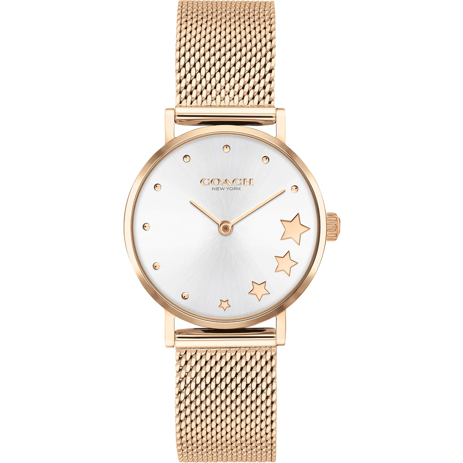 Coach Perry Ladies' Rose Gold Tone Mesh Bracelet Watch - Product number 4877365