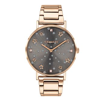 Coach Perry Crystal Ladies' Rose Gold Tone Bracelet Watch - Product number 4877403