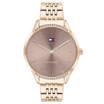 Tommy Hilfiger Rose Gold Plated Crystal Bracelet Watch - Product number 4877578