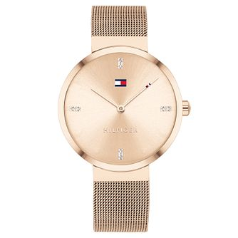 Tommy Hilfiger Liberty Rose Gold Tone Mesh Bracelet Watch - Product number 4877594