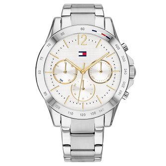Tommy Hilfiger Ladies' White Chronograph Bracelet Watch - Product number 4877632