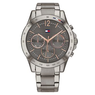 Tommy Hilfiger Ladies' Grey Chronograph Bracelet Watch - Product number 4877675