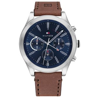 Tommy Hilfiger Ashton Men's Brown Leather Strap Watch - Product number 4877713