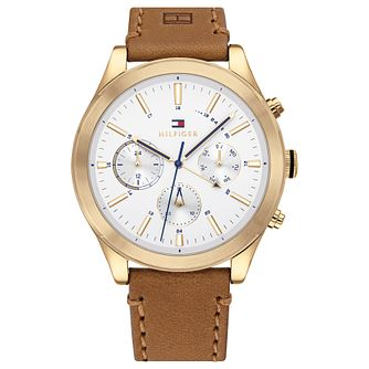Tommy Hilfiger Ashton Men's Tan Leather Strap Watch - Product number 4877764