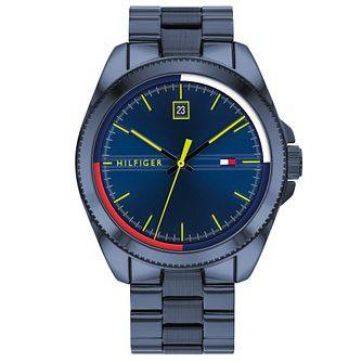 Tommy Hilfiger Men's Riley Blue IP Bracelet Watch - Product number 4877802