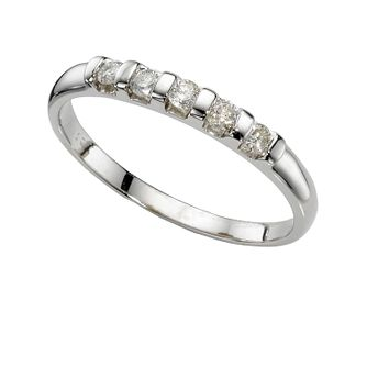 9ct White Gold 1/4 Carat Diamond Bar Eternity Ring - Product number 4879120