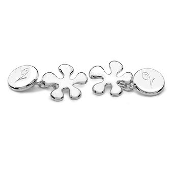 Lucy Quartermaine Silver 925 Splash Cufflinks - Product number 4881974