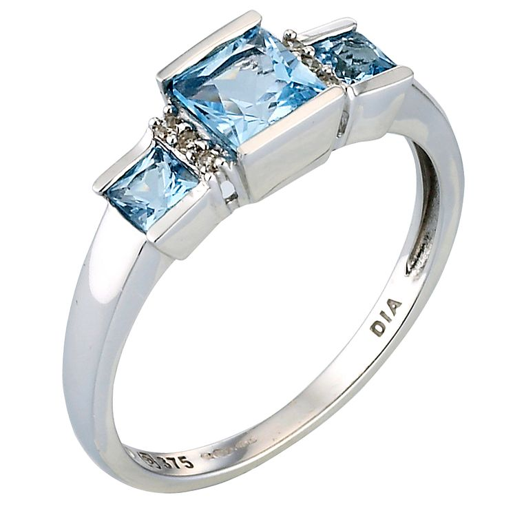 Candy Rocks 9ct gold blue topaz ring pare