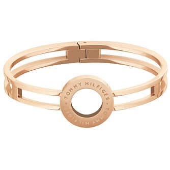 Tommy Hilfiger Ladies' Rose Gold Plated Circle Bangle - Product number 4885813