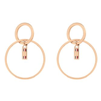 Tommy Hilfiger Rose Gold Plated Hoop Earrings - Product number 4885856