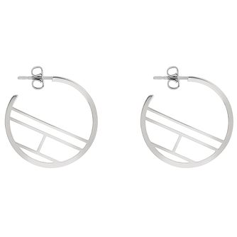 Tommy Hilfiger Sainless Steel Flag Hoop Earrings - Product number 4885864