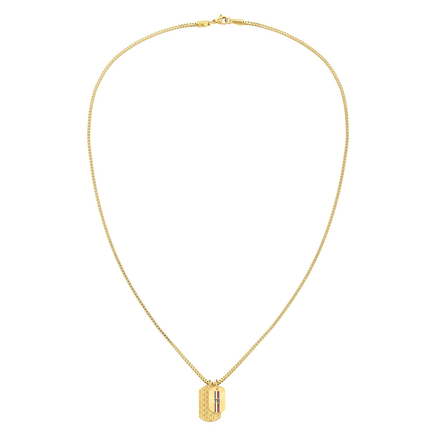 Tommy Hilfiger Yellow Gold Plated Double Dog Tag Necklace - Product number 4885910