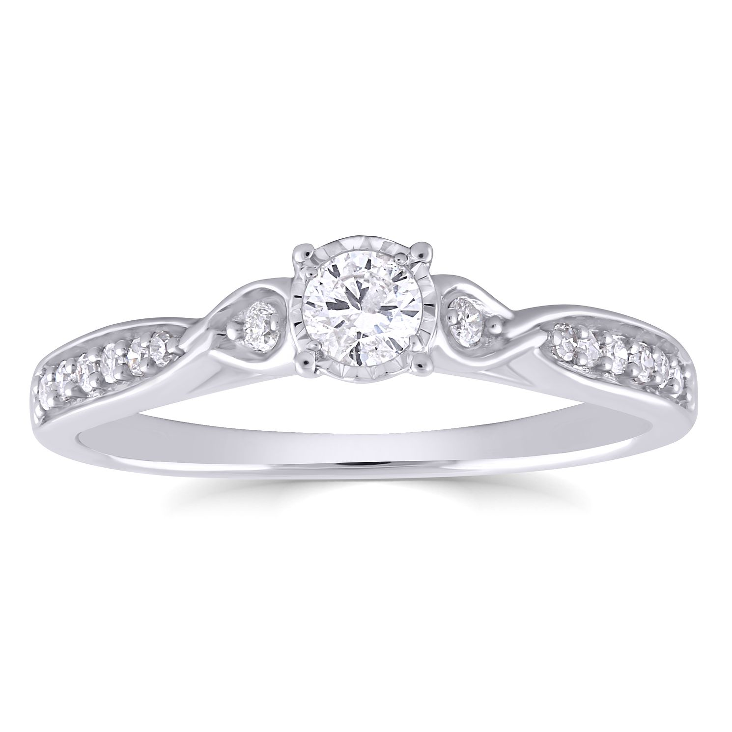 9ct White Gold 0.25ct Total Diamond Ring - Product number 4890094