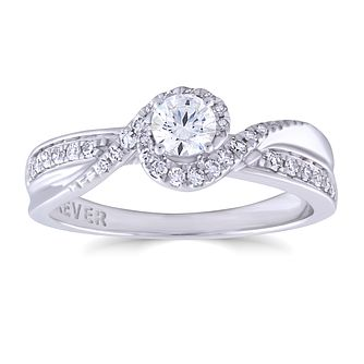 The Forever Diamond 18ct White Gold 0.40ct Total Ring - Product number 4891295