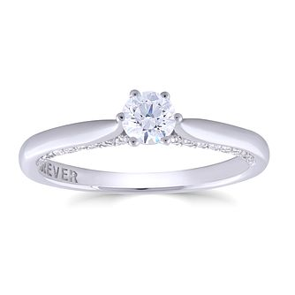 18ct White Gold 1/2ct Forever Diamond Solitaire Ring - Product number 4891465