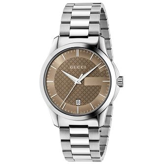Gucci G-Timeless Stainless Steel Bracelet Watch - Product number 4891945