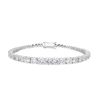 Sterling Silver Cubic Zirconia Graduated Bracelet - Product number 4892712